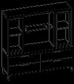 Шкафная группа низкая  Evolution МДФ 25\701 (1600х500х1307)