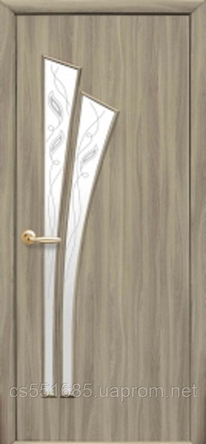 Лилия-Р3 Сандал (60, 70, 80, 90см). Коллекция Модерн. Межкомнатные двери МДФ Новый Стиль