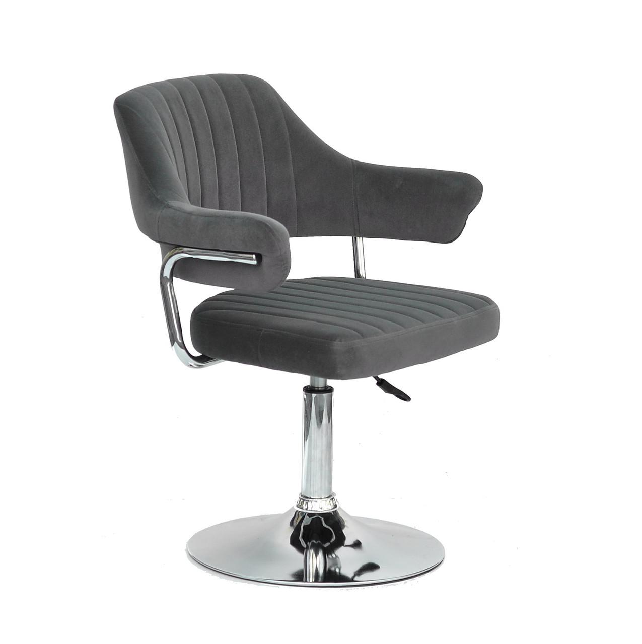 Кресло парикмахера Джеф JEFF CH - BASE серый бархат