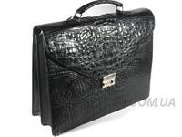 Мужской портфель из кожи крокодила RIVER (DCM 53-C Black)