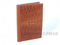 Обложка для паспорта и автодокументов из кожи крокодила River (NTCM 20-T Cognac), фото 1