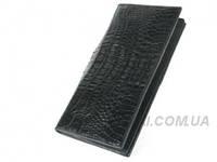 Мужской кошелек из кожи крокодила RIVER (PPCM-T Black)