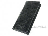 Мужской кошелек из кожи крокодила RIVER (PPCM-T Black), фото 1