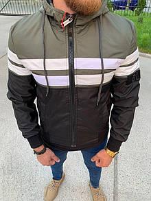 Чоловіча куртка 2020, чорно-білий-хакі