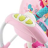 Дитячий заколисуючий центр Mastela 6519 рожевий. Підлогові електро гойдалки для дітей, фото 6