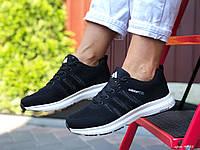 Женские,подростковые кроссовки Adidas Neo,черные,текстиль