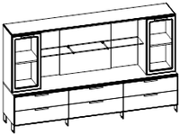 Шкафная группа низкая  Evolution МДФ 25\702 (2400х500х1307)