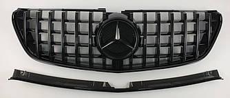 Решітка радіатора Mercedes V Class w447 стиль GT (чорна)