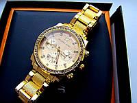 Наручные часы женские Michael Kors золото и стразы 003