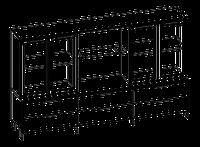 Шкафная группа низкая  Evolution МДФ 25\703 (2400х500х1307)