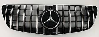 Решетка радиатора Mercedes w447 Vito стиль GT (хром полоски)
