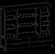 Шкафная группа средний Evolution МДФ 25\704 (1600х500х1700)