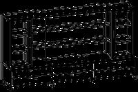Шкафная группа средний Evolution МДФ 25\705 (2400х500х1700)