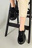 Кроссовки женские замшевые черные с вставками кожи, фото 6
