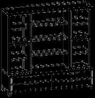 Шкафная группа высокая Evolution МДФ 25\707 (1600х500х2092)