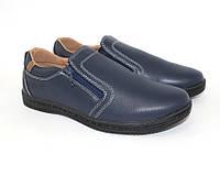 Синие подростковые туфли, школьные туфли для мальчиков, осенние детские мокасины
