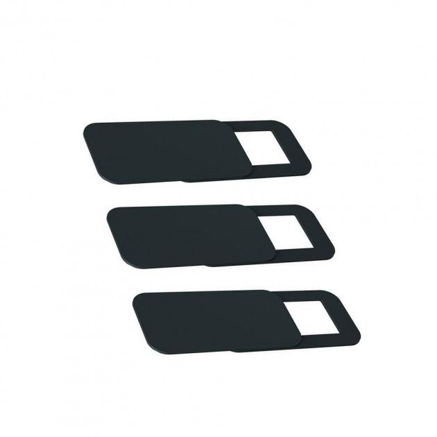 Комплект из трех шторок для фронтальной веб-камеры, прямоугольные, черные