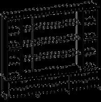 Шкафная группа высокая Evolution МДФ 25\708 (2400х500х2092)