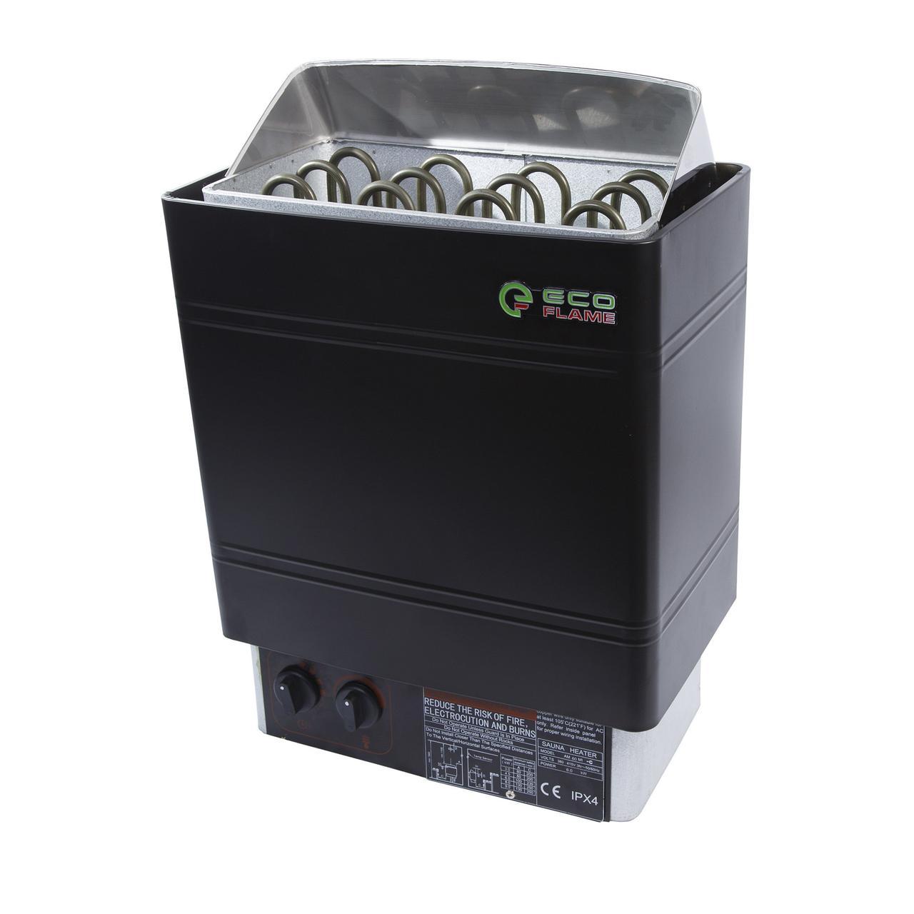 Электрокаменка для сауны и бани EcoFlame AMC-60 STJ 6 кВт