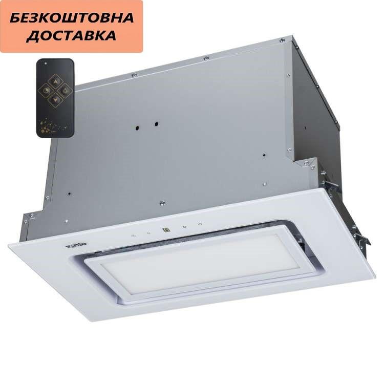 Кухонная вытяжка Ventolux PUNTO 60 WG (900) TRC  FLED Встраиваемая, Белая, Стекло