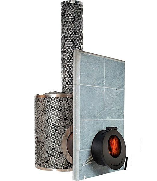 Дровяная печь для бани и сауны IKI SL Plus со стеклянной дверкой