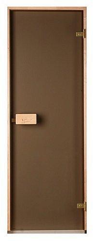 Скляні двері для лазні та сауни Saunax Classic матова бронза 70/200