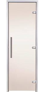 Стеклянная дверь для хамама GREUS Premium 80/200 бронза