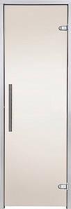 Стеклянная дверь для хамама GREUS Premium 70/200 бронза матовая