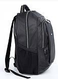 Рюкзак школьный для мальчика чёрный с салатовыми молниями, фото 3