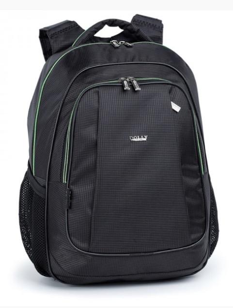 Рюкзак школьный для мальчика чёрный с салатовыми молниями
