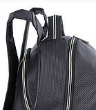 Рюкзак школьный для мальчика чёрный с салатовыми молниями, фото 6