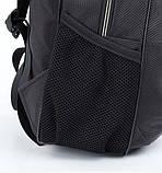 Рюкзак школьный для мальчика чёрный с салатовыми молниями, фото 2