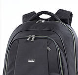 Рюкзак школьный для мальчика чёрный с салатовыми молниями, фото 5