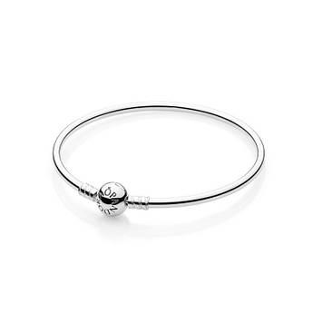 Жесткий браслет из серебра 925 пробы в стиле Pandora