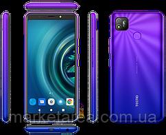 Смартфон синий с большим дисплеем и мощной батареей на 2 sim Tecno POP4 (BC2) 2/32Gb DS Blue Quad-core UA UCRF