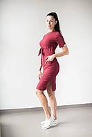 Женское медицинское платье Скарлетт цвет марсала