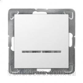 Выключатель однополюсный с подсветкой IMPRESJA ŁP-1YS/m/00 250V/16A OSPEL