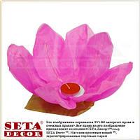 Малиновый лотос фонарик плавающий бумажный диаметр 30 см.
