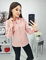 Рубашка коттоновая женская ПУДРА (ПОШТУЧНО)