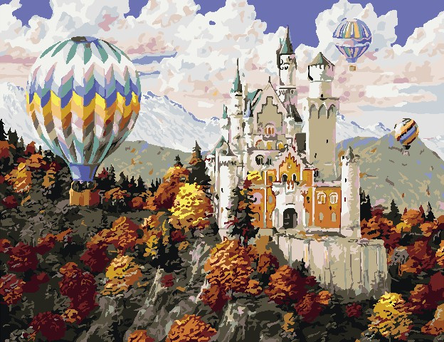 Картина за номерами Замок в горах 50х65 см Art Story (AS0814)