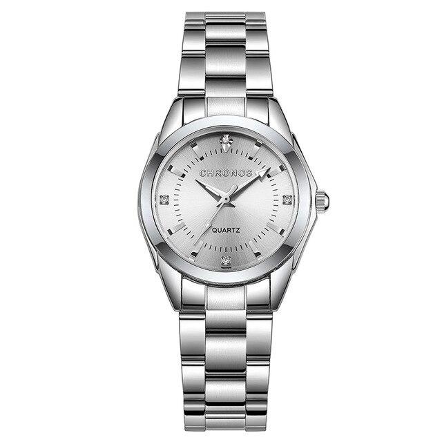 Кварцові годинники жіночі CHRONOS з нержавіючої сталі CH23