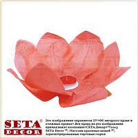 Красный лотос фонарик плавающий бумажный диаметр 30 см.