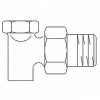 """""""Oventrop"""" """"Combi 2"""" R½ х 12 мм угловой, для пайки, бронза / латунь, с впереди. Настройки., отключением"""