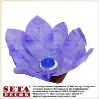 Фиолетовый лотос фонарик плавающий бумажный диаметр 30 см.