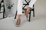 Кроссовки женские замшевые цвет латте с вставками кожи, фото 9
