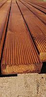 Террасная доска 35x100 импрегнированная из сосны покрыта маслом (коричневая) сорт АВ.