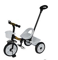 Велосипед трехколесный TILLY MOTION T-320 серый с корзиной и родительской ручкой