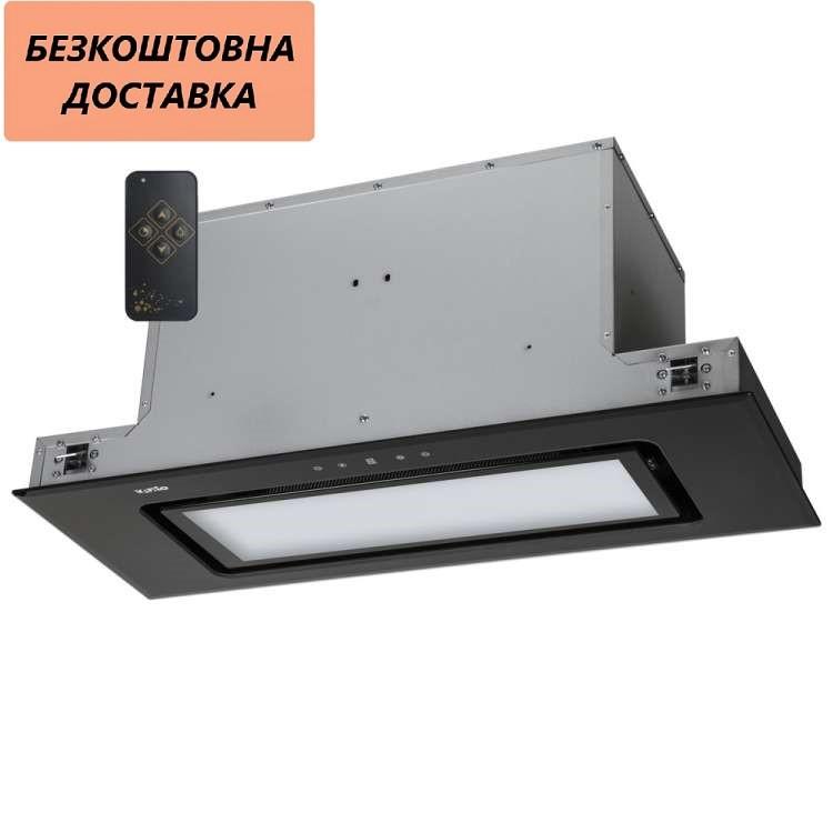 Вытяжка Ventolux PUNTO 90 BG (1200) TRC FLED Встроенная Черное стекло