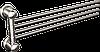 Вешалка для полотенец четверная Andex Classic, 003cc