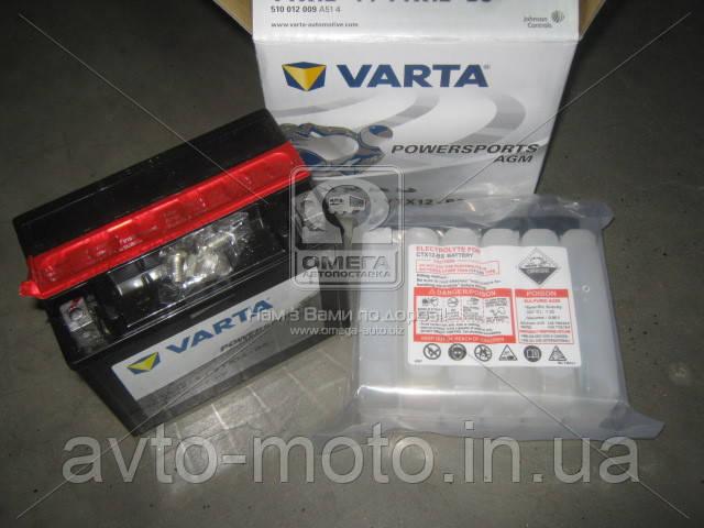 Аккумулятор   10Ah-12v VARTA FS AGM (YTX12-4, YTX12-BS), (152x88x131), L, Y5, EN150
